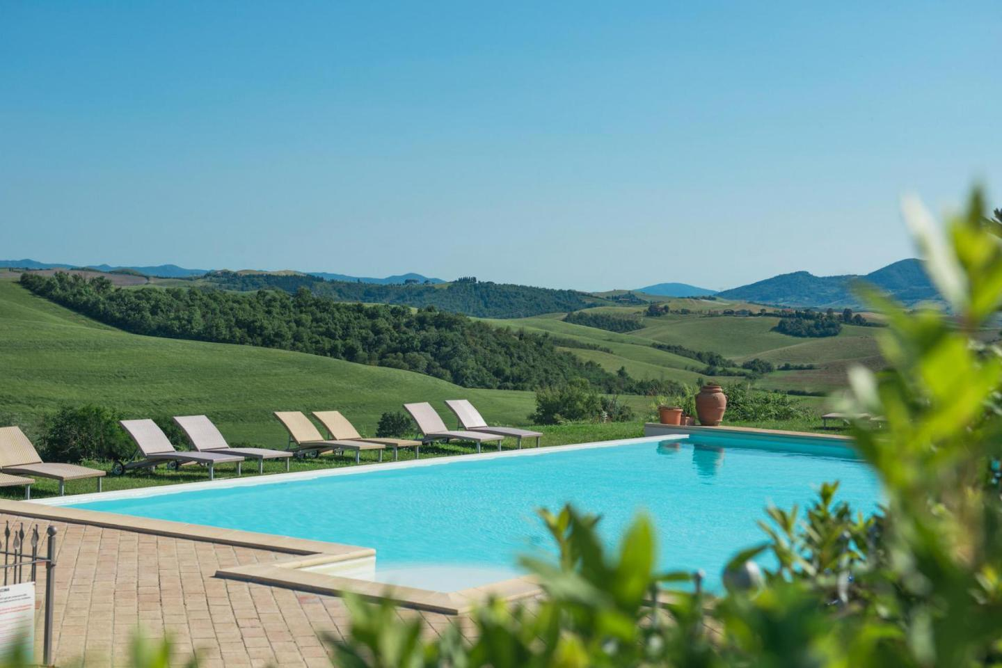 Agriturismo with a pool and view in Tuscany Italy