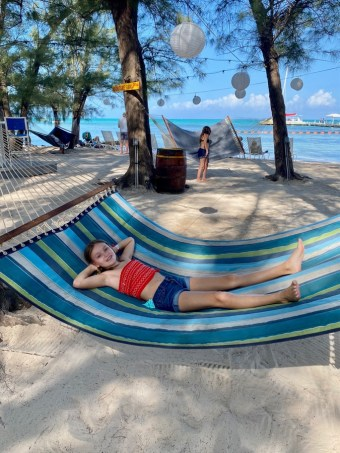 Relaxing at Rum Point Grand Cayman