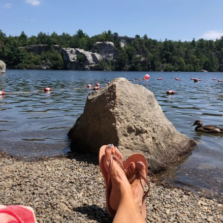 Lake Minnewaska beach