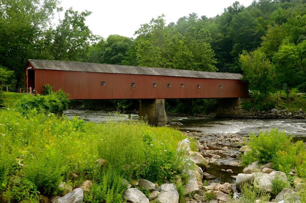 Covered bridge in Cornwall, CT