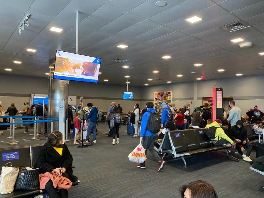 JFK airport during February break 2021