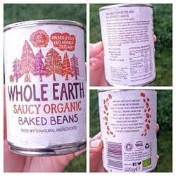 whole earth beans