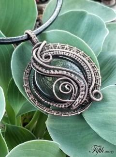 Fifth energy Rainbow Obsidian Pendant Necklace Jewlery