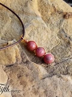Rhodonite Gemstone Necklace Fifth Energy Jewelry