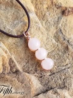 Rose Quartz Drop Necklace Fifth Energy Jewelry