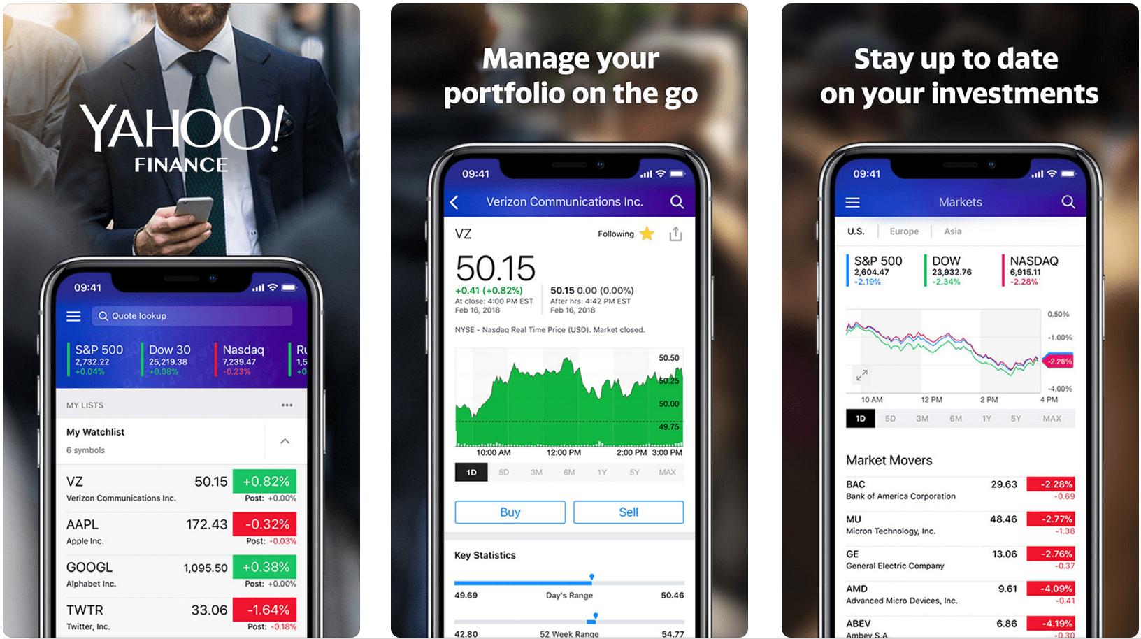 yahoo finance my portfolio download