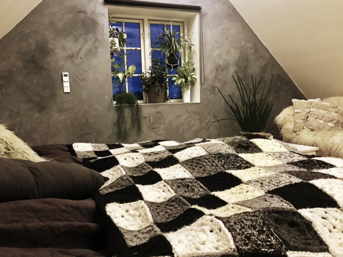 malet væg beton-look