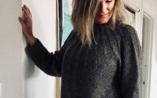 strkket sweater, opskrift