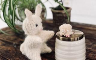strikket påskehare