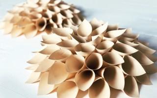 foldede papirblomster