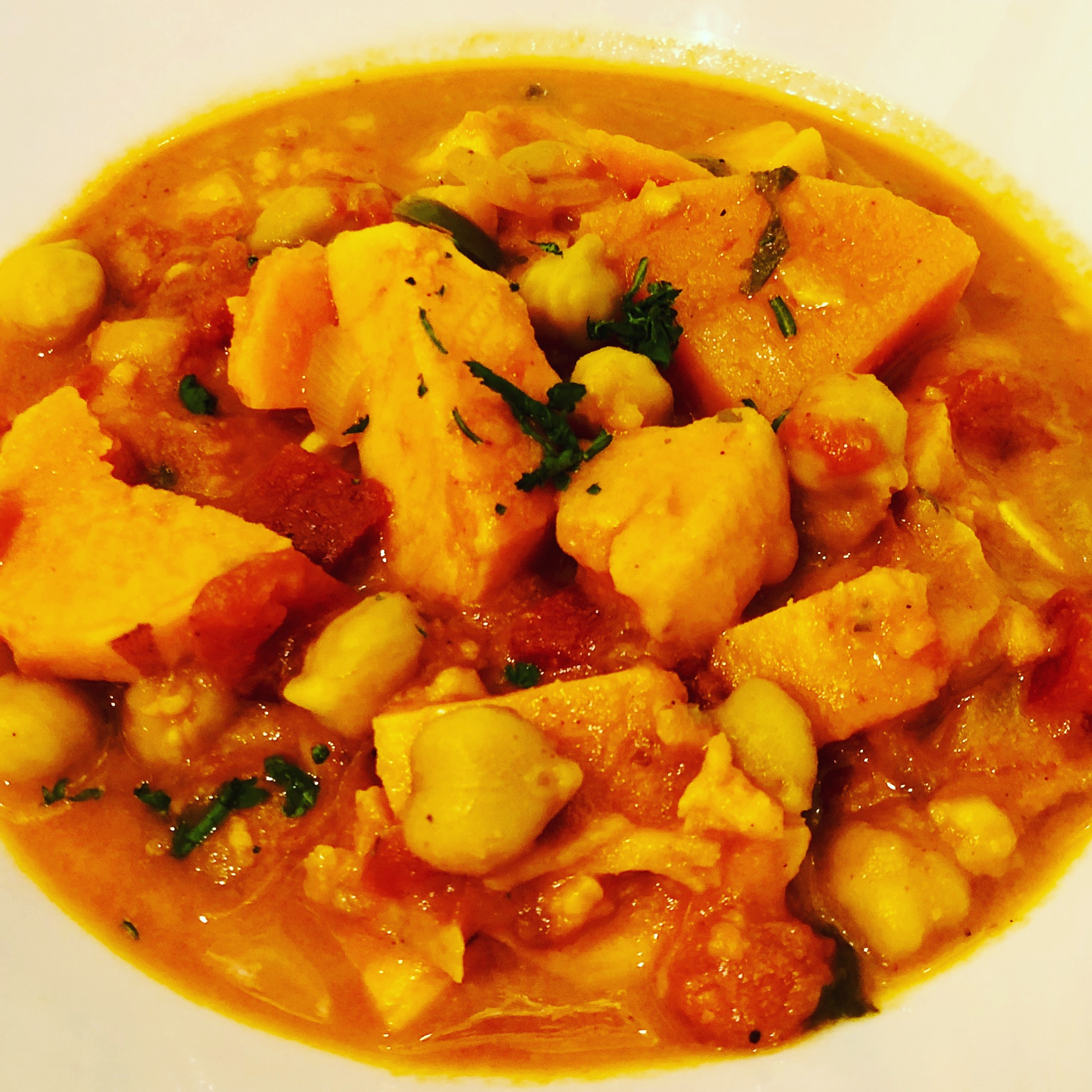 Easy Vegan Sweet Potato & Chickpea Curry (Instant Pot or Slow Cooker)