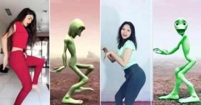 FIFY STORE Grande Peluche Alien Danse Dame Tu Cosita 42cm
