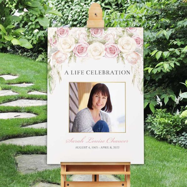 funeral welcome poster signage photo