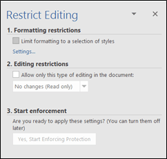 How to Lock Their Sticky Fingers Out of Your Formatting