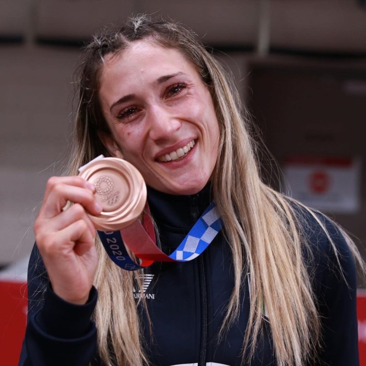 Maria Centracchio bronze medal