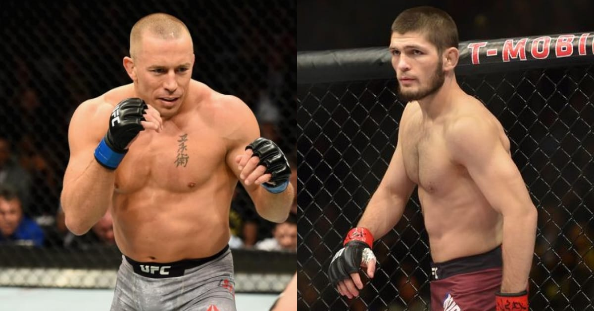 Dana White offered Khabib Nurmagomedov a fight with Georges St-Pierre