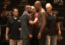 Cormier vs Jones UFC 214 staredown