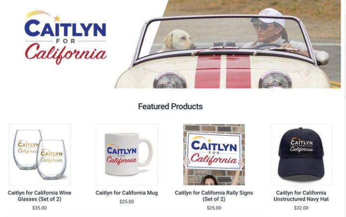 Caitlyn Jenner's WinRed site.