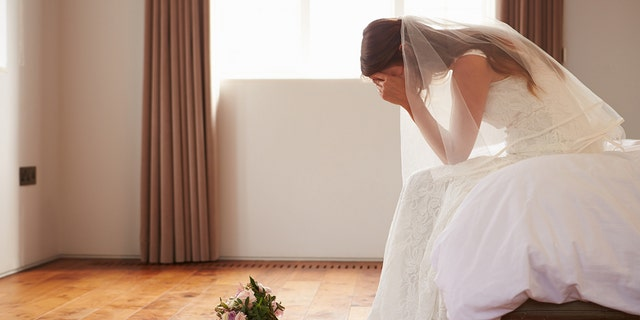 The groom's fiancée stormed out of her home after hearing her husband-to-be dislikes her wedding gown. (iStock)
