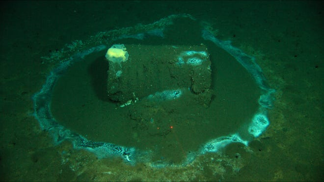 In this 2011 image provided by the University of California Santa Barbara, a barrel sits on the seafloor near the coast of Catalina Island, Calif. Marine scientists say they have found what they believe to be as many as 25,000 barrels that possibly contain DDT dumped off the Southern California coast near Catalina Island.