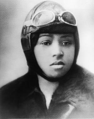 Portrait of Bessie Coleman, circa 1920s.