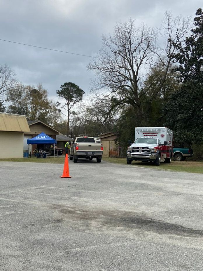 The Glascock County Fire Department in Gibson, Georgia, is where Charlsie Kate Paine got her first COVID-19 vaccine.