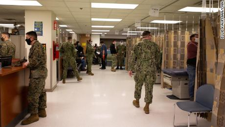 Military sees Covid-19 vaccine surplus as usage rate dips
