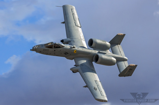 "Major Paul ""Harb"" Brown demonstrates the tactical capability of the A-10C Thunderbolt II."