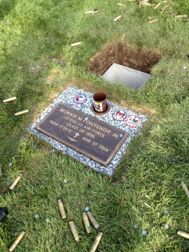 """The final resting place for Lieutenant Colonel Morris """"Moose"""" Fontenot, Jr. Godspeed to our friend and brother who has gone Home...albeit too soon. (Photo by Jonathan """"Jersey"""" Burd)"""