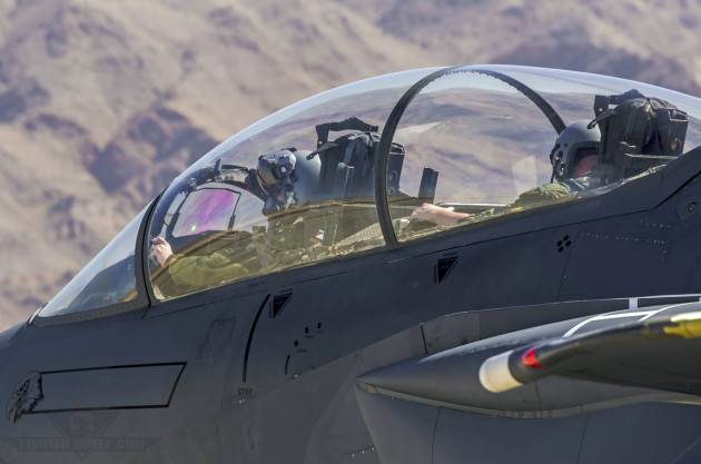 """Scar"" and ""Razor"" taxi out for a Red Flag mission at Nellis Air Force Base, Nevada."