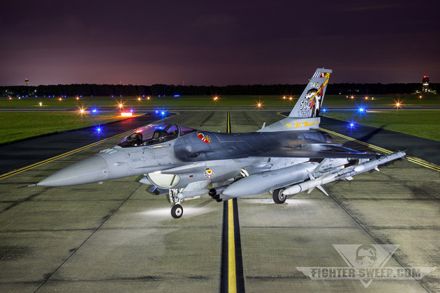"""Slapshot"" the Wild Weasel 50th anniversary tail flash was revealed at Shaw AFB"