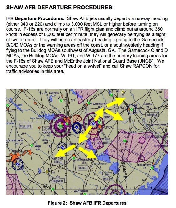 """Taken from the """"Crowded Skies"""" manual published by the 20th Fighter Wing at Shaw Air Force Base, South Carolina."""