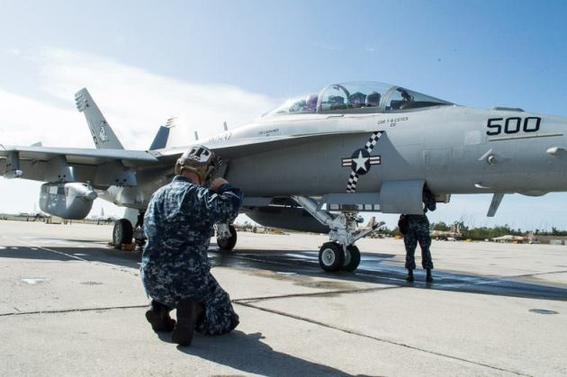 """The """"CAG"""" jet from the """"Rooks"""" of VAQ-137. (Photo courtesy of VAQ-137)"""