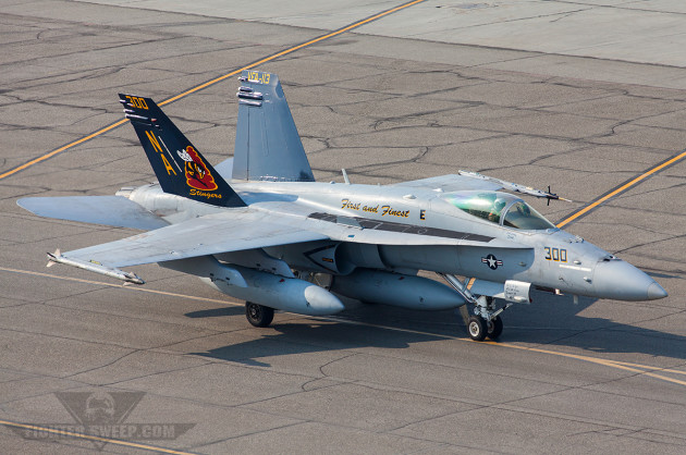 STING 300 taxies back to the line at Eielson AFB during Red Flag-Alaska