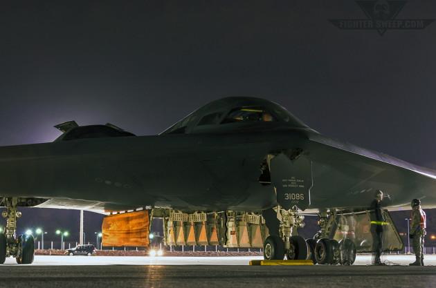 B-2A Spirit at Nellis AFB, Nevada.