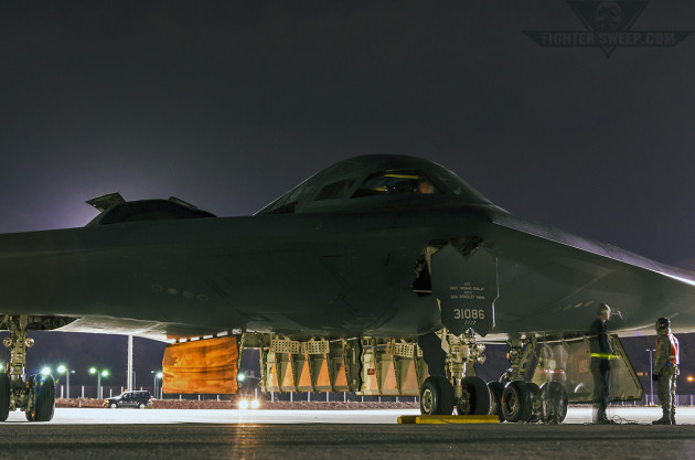 B-2A Spirit at Nellis AFB, Nevada.