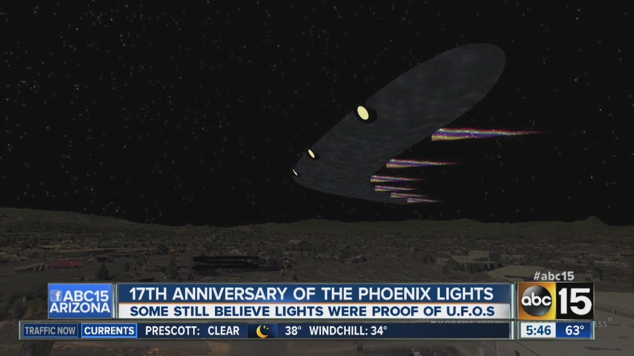 A Computer Generated Depiction Of What The UFO Over Phoenix In March Of  1997 Looked Like. (Courtesy Of ABC 15 Arizona)