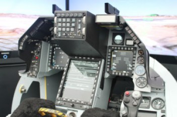 The cockpit of the next-generation F-16V Fighting Falcon. (Photo courtesy of Lockheed-Martin)