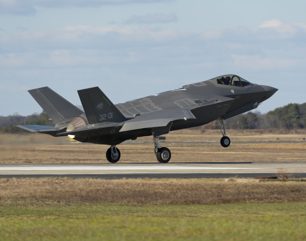 An Italian Air Force (Aeronautica Militare) F-35A Lightning II aircraft made aviation history as it completed the very first F-35 trans-Atlantic Ocean crossing, arriving at Naval Air Station Patuxent River, Md., from Cameri Air Base, Italy, on Feb. 5 at 2:24 p.m. EST. (U.S. Navy photo courtesy Andy Wolfe/Released)