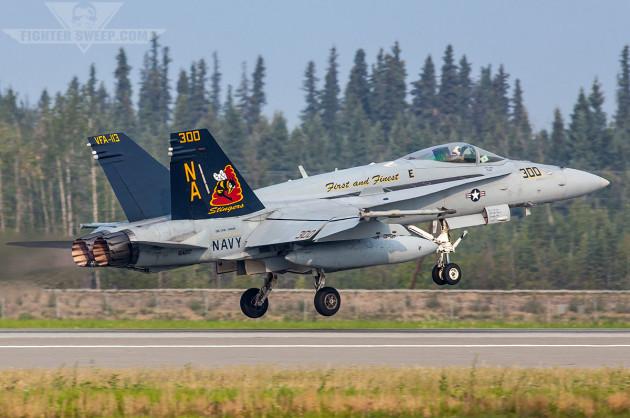 Last Legacy Hornet Departs NAS Lemoore!