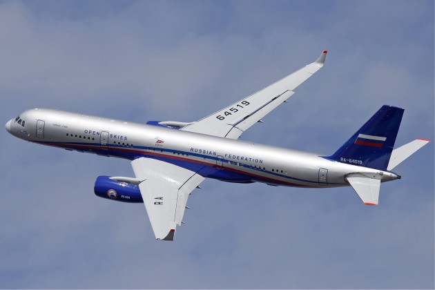 "Another angle of the Tupolev Tu-214ON ""Open Skies"" IMINT platform. (Photo courtesy of Wikimedia Commons)"