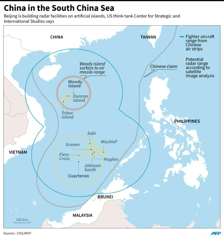 USPhilippines Base Deal Angers China Fighter Sweep - Map of strategic military instillations in us
