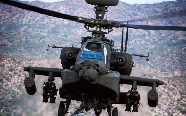 """The AH-64D Apache """"Longbow."""" (Photo courtesy of Boeing)"""