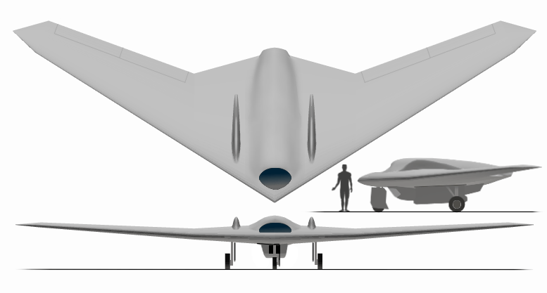 Lockheed-Martin RQ-170 Sentinel drone. (Graphic courtesy of YouTube)