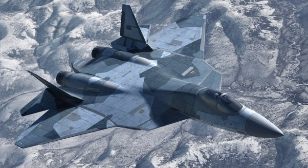 T-50 Seen Fitted With Air-To-Surface Weapons!