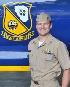 "Navy Lt. Dave Steppe, 31, of Birmingham, Alabama, is an EA-18G Growler Naval Flight Officer currently assigned to Electronic Attack Squadron ONE TWO NINE (VAQ-129), the ""Vikings,"" at NAS Whidbey Island, Washington. He is a 2008 graduate of Auburn University, Auburn, Alabama."