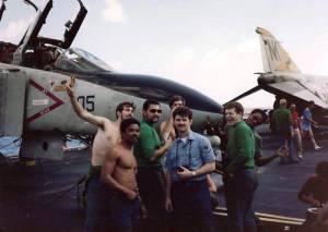 Some of Chief Chevy's crew. Nyberg center with camera. (Courtesy: John Nyberg)