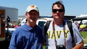 VADM Venlet and Tim Baer