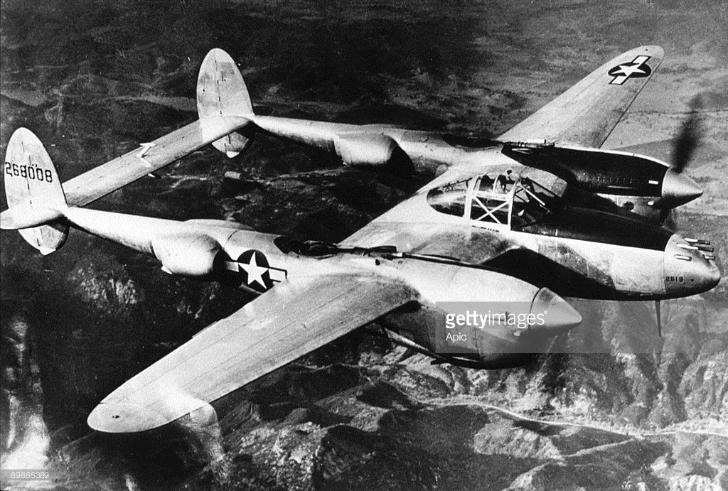 The mighty, and deadly P-38. Courtesy Getty Images