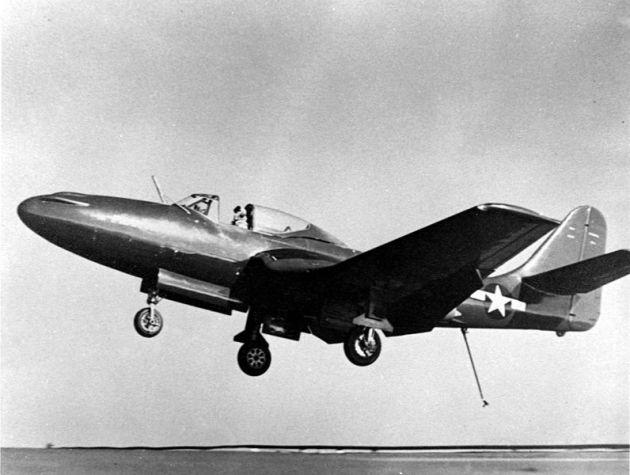 FH-1_CVB-42_landing_NAN9_46-Lt-Cmdr-James-Davidson